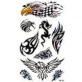 MapofBeauty Cool Animal Eagle/Dragon/Wing Temporary Waterproof Tattoo Body Art Sticker (2 pcs/lot)