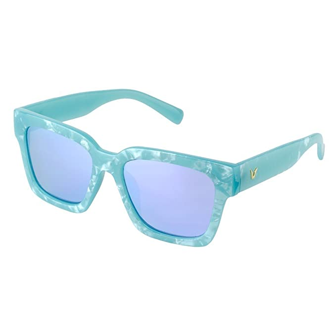 Sunglasses Stylish Retro (Teal Frame & Blue Lenses) Made With ...