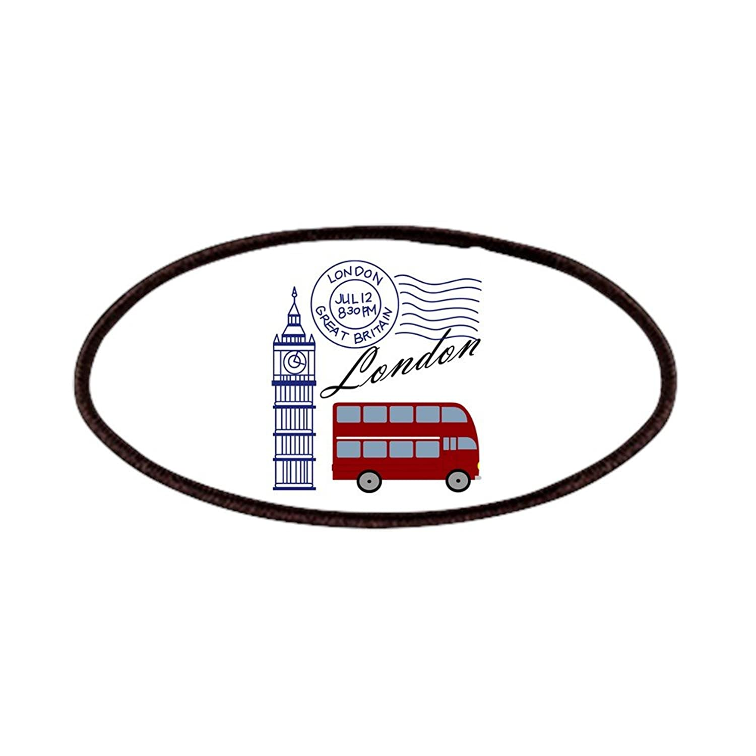 Amazon.com: CafePress - London - Patch, 4x2in Printed Novelty Applique Patch: Clothing