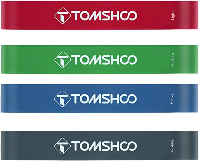 Tomshoo 5 Packs pull up aider Bands Set Résistance Boucle Bandes Dynamophilie