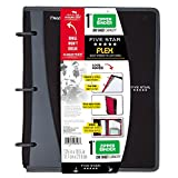 Five Star Flex Hybrid NoteBinder, 1 inch Ring Binder, Notebook and Binder All-in-One, Black (73412)