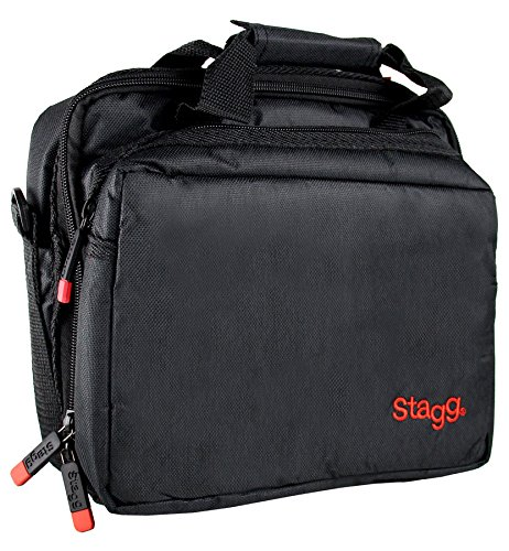 Stagg MIB-100 Microphone Bag with Thick Velvet Lining & Two Compartments - Black