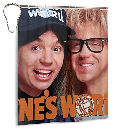 ZTZTR ReliableShower Curtains Wayne's World 2 Waterproof Fabric Bathroom Shower Curtain Set with 12 Hooks 60 X 72 Inches