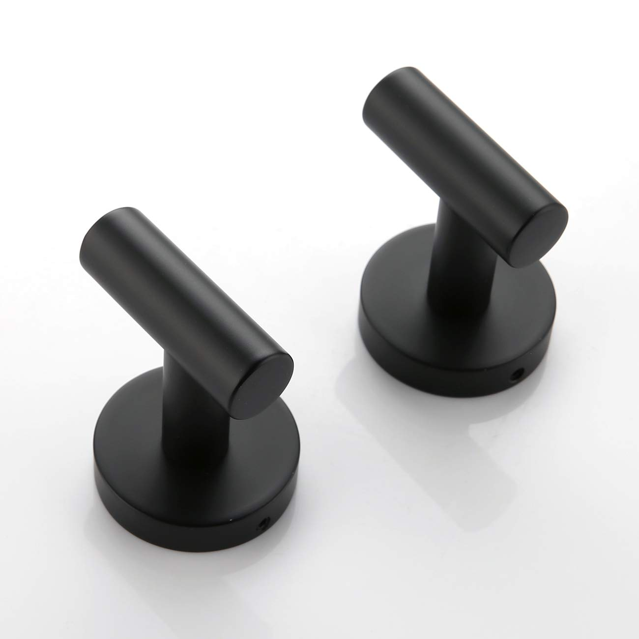 Hoooh Matte Black Coat Hook Towel/Robe Clothes Hook for Bath Kitchen Garage SUS 304 Stainless Steel Wall Mounted, 2 Pack, B100-BK-P2 by Hoooh (Image #6)