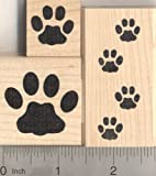 3 Piece Cat Paw Print Rubber Stamp Set