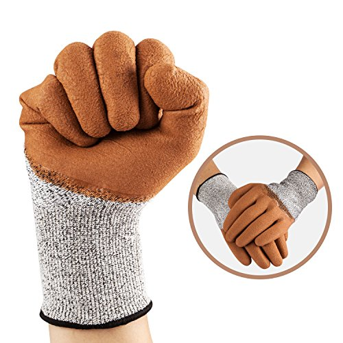 Cut Stab Cut Resistant Gloves,TFboys 2 Pack Gloves Resistant Level 5 Working Protective Gloves Anti Abrasion for Safety by TFboys (Image #2)