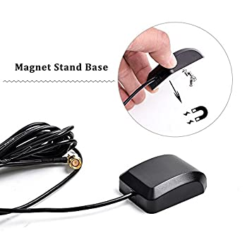 Car Gps Active Antenna With 10ft Extension Cable For Dash Dvd Head Unit Stereos (Sma Male Plug Right Angle Connector) 3