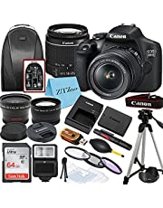 Canon EOS 2000D / Rebel T7 DSLR Camera with EF-S 18-55mm Zoom Lens + SanDisk 64GB Memory Card + Tripod + Case + Wideangle Lenses + ZeeTech Accessory Bundle (20pc Bundle)