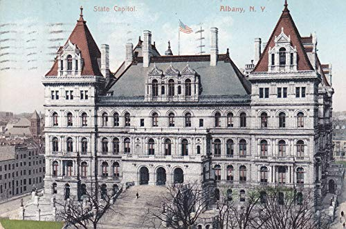 407VINT04 1909 State Capitol, Albany, N.Y, VINTAGE POSTCARD COLLECTIBLE Post Card from HIBISCUS EXPRESS -THIS POSTCARD IS 5 1/2