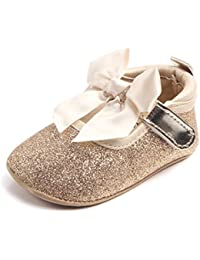 Infant Baby Girls Moccasins Anti-Slip Soft Sole Princess Shoes