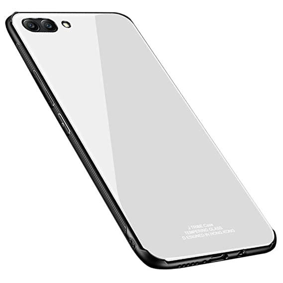 huge discount cae2d b2f13 Kepuch Quartz Huawei Honor V10 Case - TPU + Tempered Glass Back Cover for  Huawei Honor V10 - White