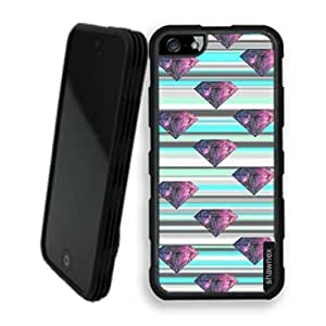 Shawnex Stripes Galaxy Diamond iPhone 5 Case - Rigid Shell Tough Protective Case iPhone 5 Case