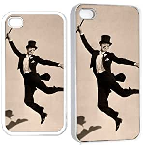 fred astaire v1 iPhone Hard 4s Case White