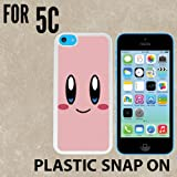 kirby phone case 5c - Cartoon Girl Cute Kirby L O L Custom made Case/Cover/skin FOR iPhone 5C -White- Plastic Snap On Case ( Ship From CA)