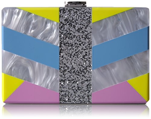 MILLY Geo Square Box Clutch, Multi by MILLY
