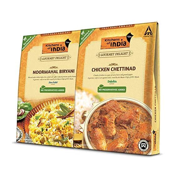 ITC Kitchens of India Combo Pack - Noormahal Biryani and Chicken Chettinad, 535g (285g + 250g)