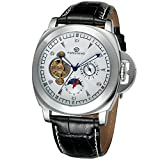 Forsining Men's Stylish Style Automatic Self-winding Moon Phase Wrist Watch with Brand Leather FSG005M3S4