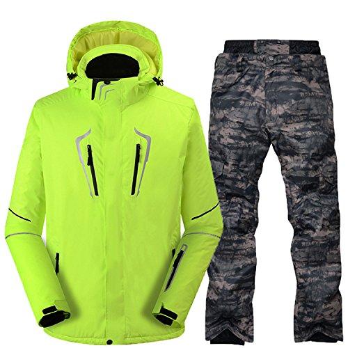 Paio Giacca Sci Fym Verde Giacche Cappotto D Ispessito Tuta Dyf Caldo khaki Impermeabile Da Uomini Donne Xq8xnpxU0