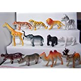 Wild Animals Figurine 144 Pieces ,12 Assorted Styles High Quality Relastic Toys