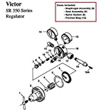 Victor SR350D Oxygen Regulator Rebuild/Repair Parts Kit w/ Diaphragm