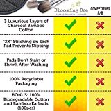 12 Charcoal Bamboo Reusable Makeup Remover Pads