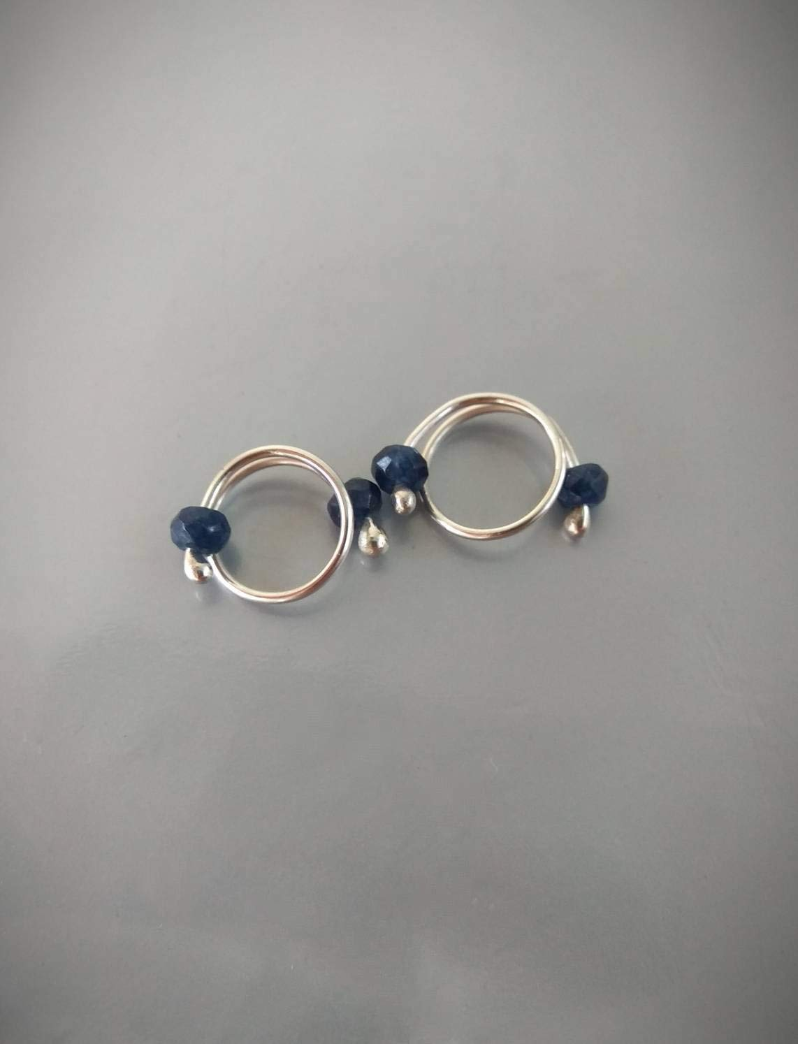 Amazon.com: Non Piercing Nipple Rings With blue quartz beads - Solid  sterling Silver - Fake Piercing - gift for wife: Handmade