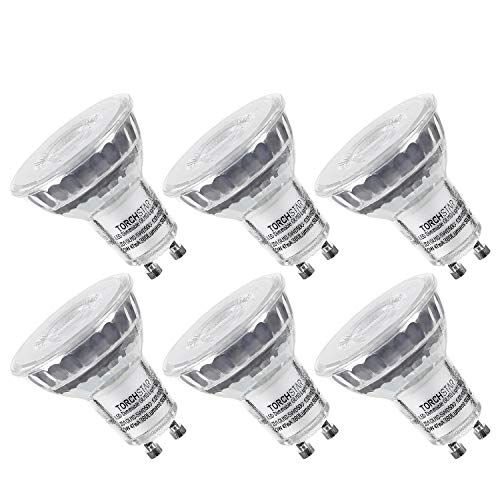 Spot Gu10 (TORCHSTAR Dimmable LED MR16 GU10 Spot Light Bulb, 5.3W (50W Equivalent), 5000K Daylight, 380 Lumens, UL and Energy Star Certified, 3 Years Warranty, Pack of 6)
