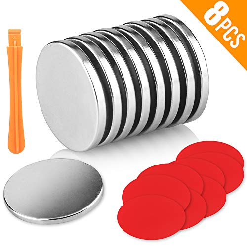 Rare 0.125 Magnets Earth - Attom Tech Powerful Neodymium Disc Magnets, Strong, Permanent, Rare Earth Magnets. Fridge, DIY, Building, Scientific, Craft, and Office Magnets, 1.26