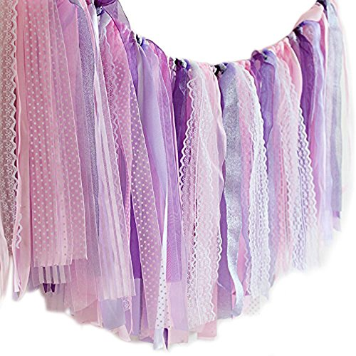 Hangnuo Colorful Ribbon Tassel Garland Already Assembled For Wedding Party Decorations Nursery Photo Props 40