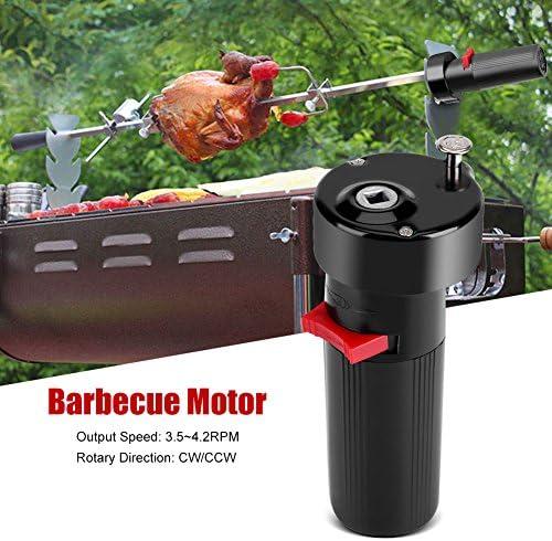 1.5V Noir barbecue grill à rotation à moteur CW/CCW retourner Grill Rotor Moteur pour barbecue rôti support supplémentaire Alimenté par batterie