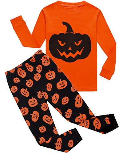 Little Pajamas Boys Pumpkin Halloween Pjs Costumes Toddler Kids Clothes Set Size6T