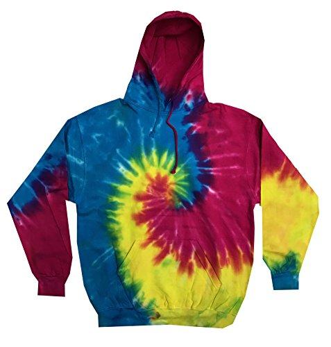 (Colortone Tie Dye Hoodie LG Reactive Rainbow)