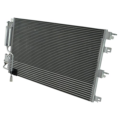 (AC Condenser A/C Air Conditioning w/Transmission Oil Cooler for Ford Focus)