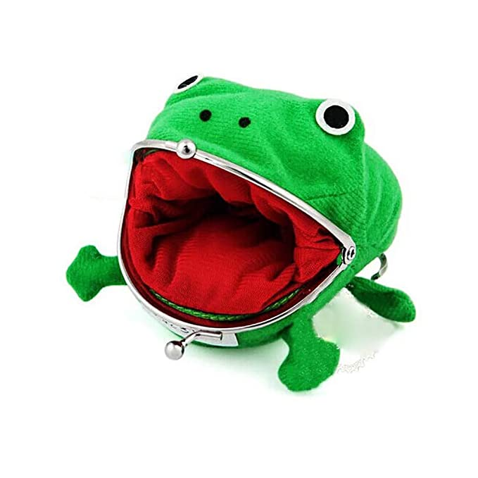 Domccy Cute Green Frog Coin Bag Cosplay Props Plush Toy Purse Wallet for Naruto Lovers and Cosplay Coin purse, shoes and accessories, ladies handbag, ...