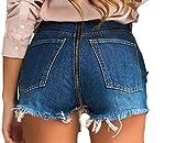 GRMO-Women Stylish Skinny Back Zipper Jean Denim Pencil Pants one US L