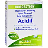 Boiron Acidil - Indigestion -Upset Stomach - Heartburn - Homeopathic - 60 Quick Dissolving Tablets (Pack of 2)