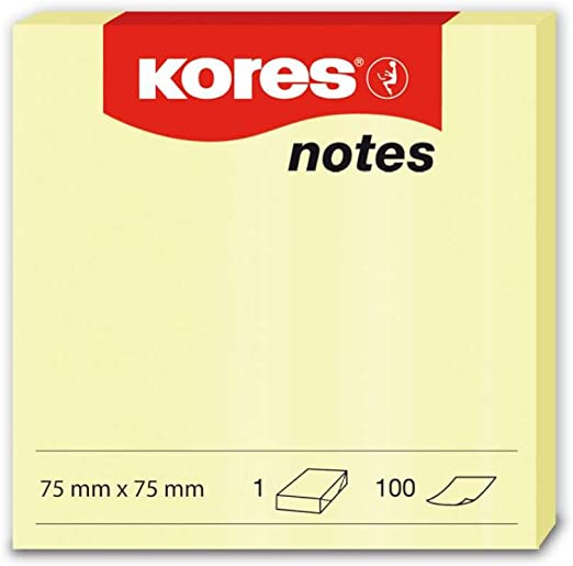120 Sheets Sticking Notes Notepads Size 75mm x 75mm Mixed Colours
