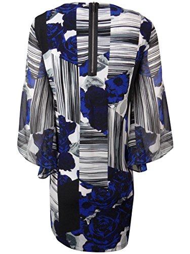 Women's Geometric Blue Rose Shift Alfani Sequined Rose Dress FAqApRa