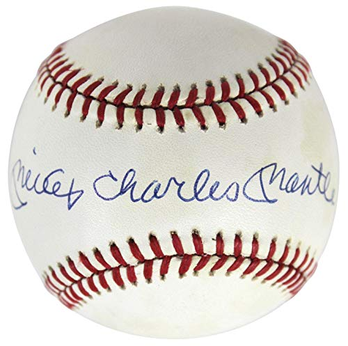 Mickey Mantle Autographed Baseball - Charles Oal BAS #AD07339 - Beckett Authentication - Autographed Baseballs (Ball Baseball Oal)
