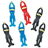 Stretchy Flying Ninjas 8cm Perfect Party Bag Filler Small Gift Idea for Kids (Pack of 6)