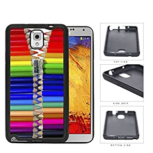 Cool Colorful Pencils Zipper Rubber Silicone TPU Cell Phone Case Samsung Galaxy Note 3 III N9000 N9002 N9005 by icecream design