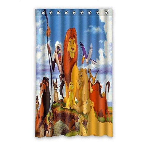 Custom The Lion King Pattern Polyester Bedroom Window
