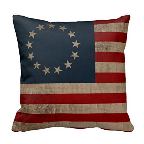 Betsy Ross Vintage Look Early American Flag 18 x 18 Inches