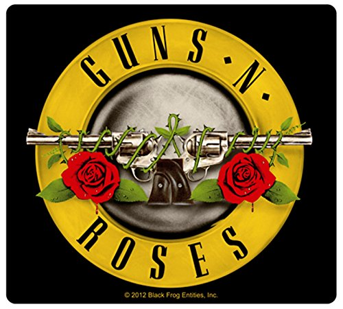 Sticker Guns N' (and) Roses Band Name & Logo Art Heavy Metal Rock Music Decal ()