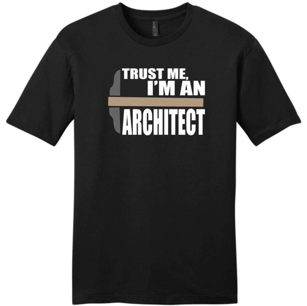 Trust Me I'm an Architect Young Mens T-Shirt Large Black