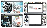 Black and White 2 X Y Omega Ruby Alpha Sapphire Video Game Vinyl Decal Skin Sticker Cover for the New Nintendo 3DS XL LL 2015 System Console