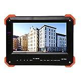 HDVD HD TVI Test Monitor 7'' INCH LCD Supports HD TVI, CVBS , HDMI , VGA, CVBS , External Power 12V Power