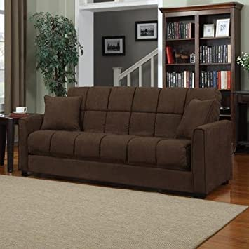 Amazoncom Baja Convertacouch Sofa Sleeper Bed Dark Brown