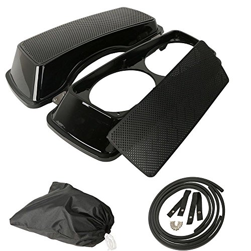 (XFMT Dual 6x9 Speaker Lids Compatible with Harley Touring Saddlebag Road King Street Glide 1993-2013 )