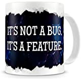 Its Not a Bug Its a Feature - Geeky Nerdy Programming Coding - Rip Out Effect Design - Coffee / Tea Mug by The Groovy Funk